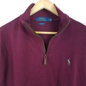 Polo Ralph Lauren Quarter Zip Cotton Pullover Med